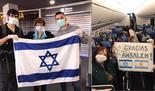 """La foto con la embajadora Galit Ronen y el agradecimiento a la empresa Amsalem""""."""