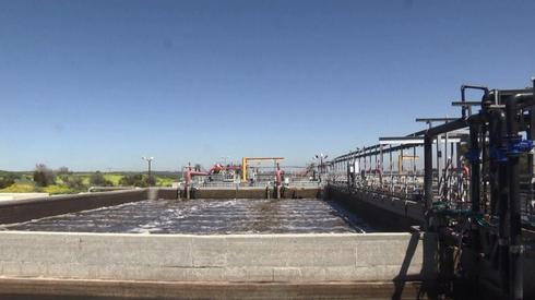 Sitio de purificación de agua en Sderot.