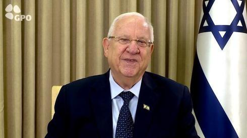 El presidente Reuven Rivlin, en momentos de dirigirse al país.