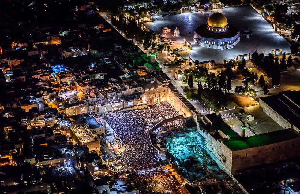 Jerusalem en la etapa previa al coronavirus: el Muro de los Lamentos repleto durante Yom Kipur.
