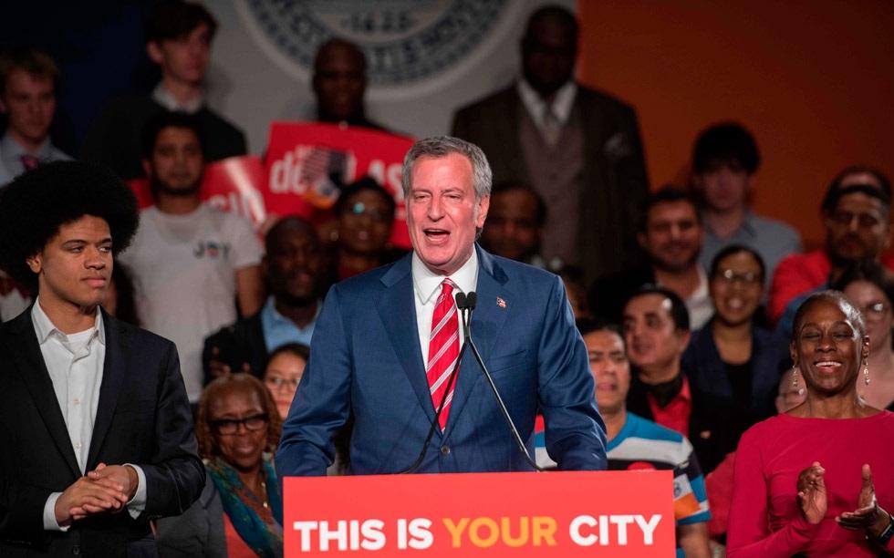 Bill de Blasio, alcalde de la ciudad de Nueva York.