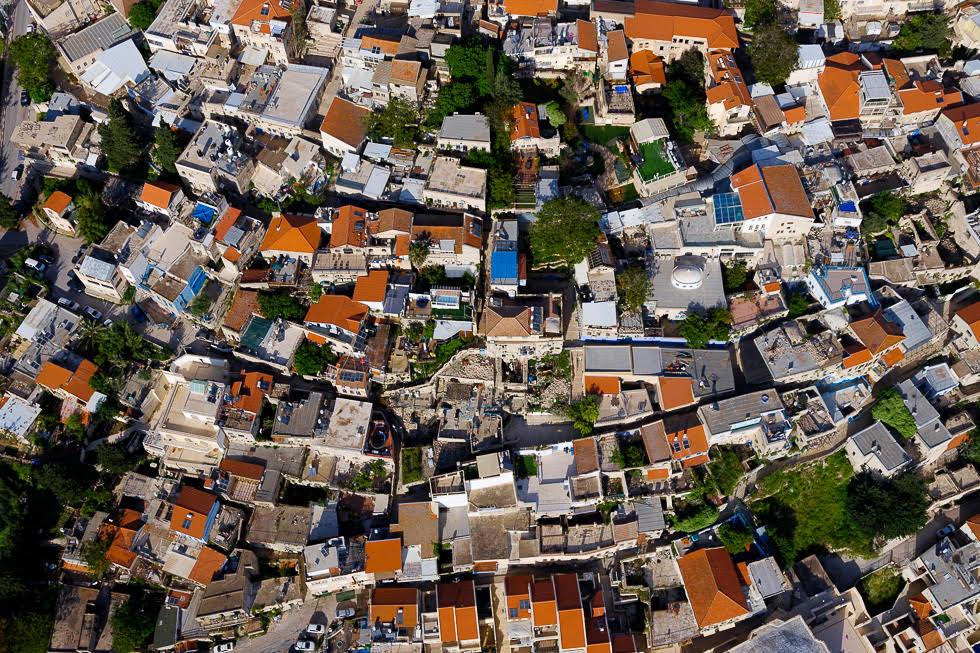 Tejados de las casas de Safed.