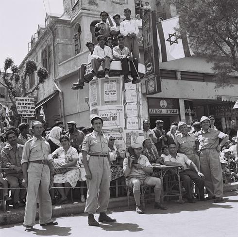 Desfile de la Independencia en Tel Aviv, 1952.