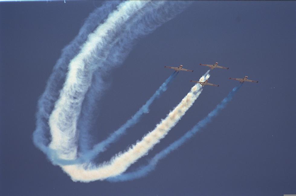 Exhibición de vuelo en la celebración de los 50 años del Estado de Israel, 1998.