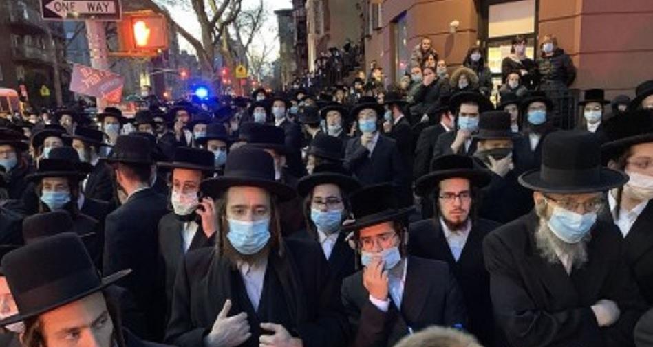 Funeral del rabíno jasídico en Brooklyn