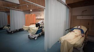 Un hospital francés que aloja a enfermos de COVID-19.