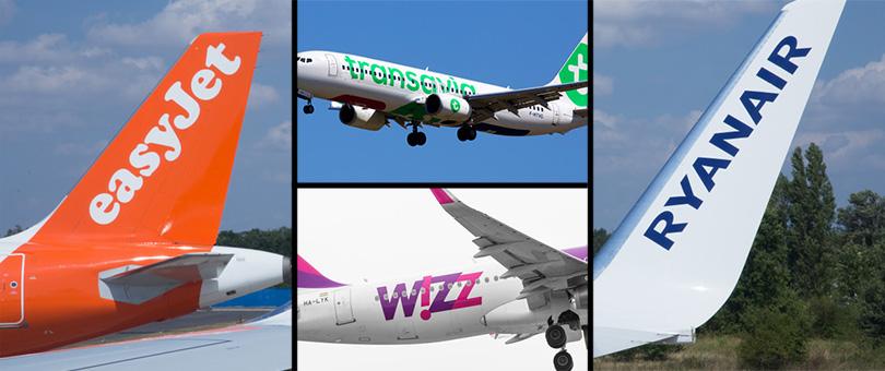 Companías aéreas de bajo costo.