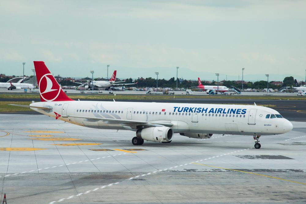 Un avión de la línea aérea Turkish Airlines.