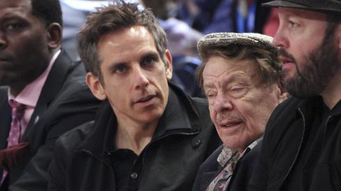 Jerry Stiller con su hijo, Ben Stiller.