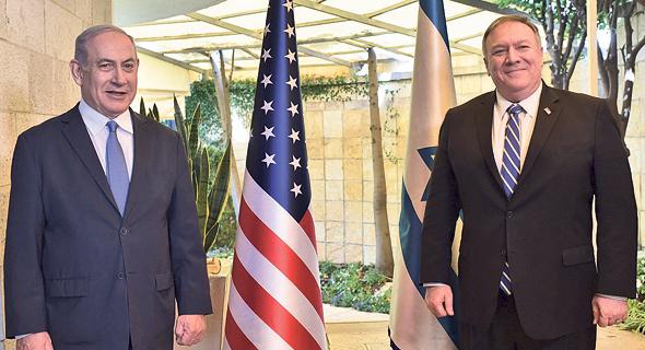 Benjamín Netanyahu y Mike Pompeo durante su estadía en Jerusalem.