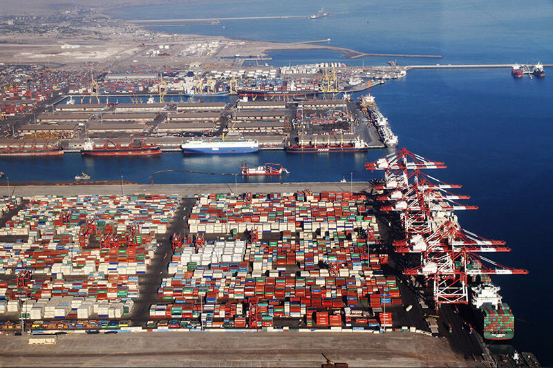 Puerto Shahid Rajaee de Iran.