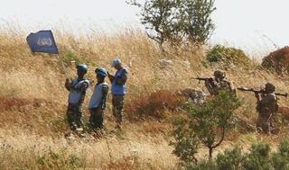 Las Fuerzas de Paz de la ONU intercedieron este martes en la frontera de Israel y Líbano.