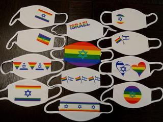 Los barbijos de las embajadas israelíes alusivos al mes de orgullo LGBT.
