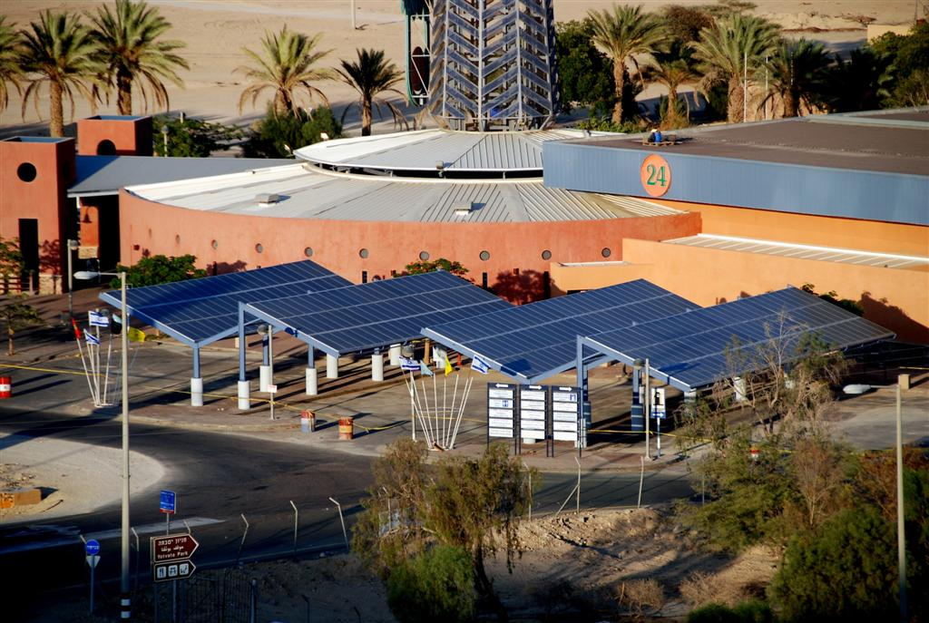 Paneles solares en Kkibbutz Yotvata