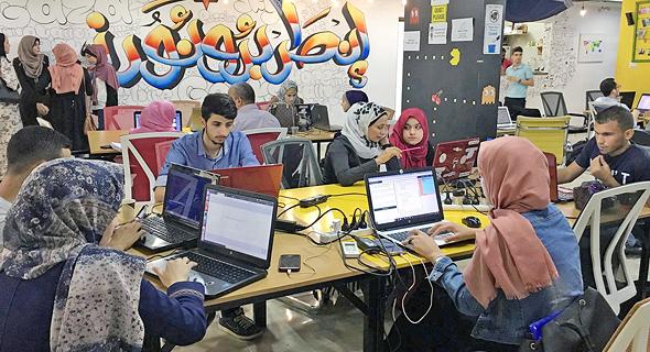 Un centro tecnológico en los territorios palestinos. .