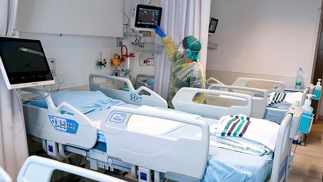 Departamento de coronavirus del Hospital Asuta, de la ciudad israelí de Ashdod.