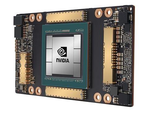 Chip de inteligencia artificial de NVIDIA.