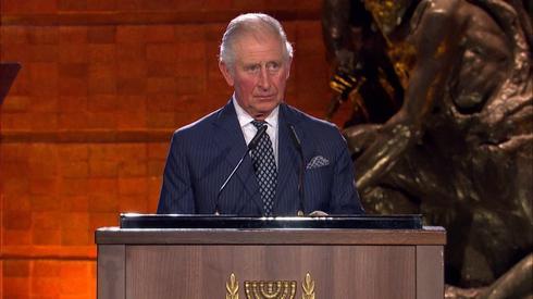 El Príncipe Carlos del Reino Unido hablando durante el Foro Mundial del Holocausto 2020.
