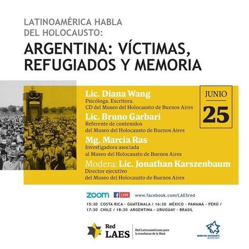 """Conferencia  """"Argentina: víctimas, refugiados y memoria""""."""