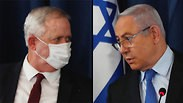 Benny Gantz y Benjamín Netanyahu.