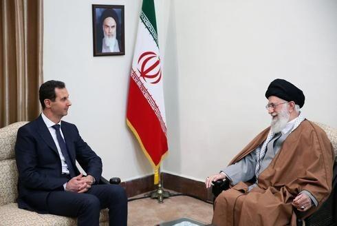 El líder supremo iraní, Alí Jamenei, y el presidente de Siria, Bashar al-Assad.