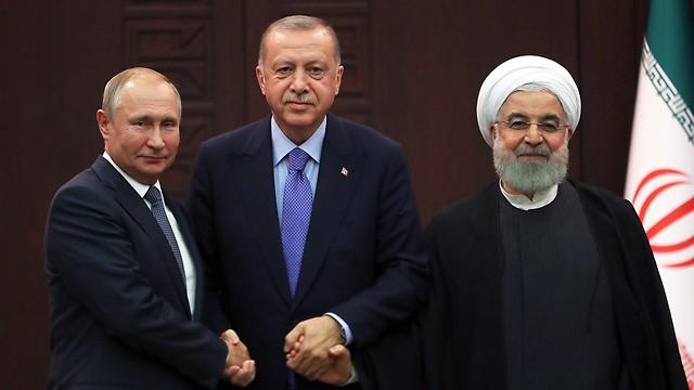 Reunión entre Putin, Erdogan y Rouhani en 2019.