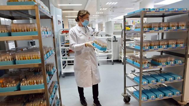 Laboratorio de pruebas de coronavirus en Or Yehuda.