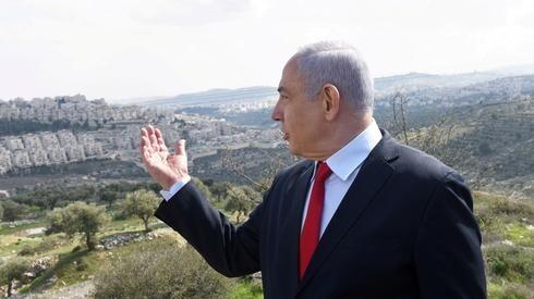 Netanyahu en Cisjordania promoviendo el plan de anexión.