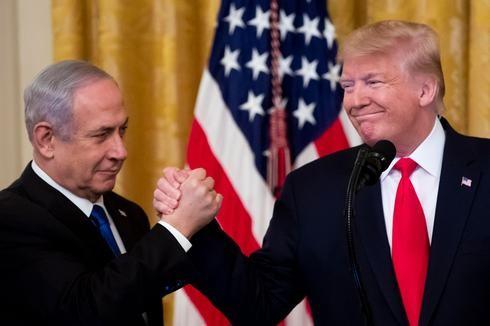 Netanyahu y Trump durante la presentación del plan de paz de EE.UU. en Washington.