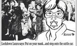 La caricatura que compara la imposición del uso de mascarillas con la Shoá.