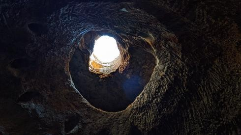 """El """"techo"""" de una cueva."""
