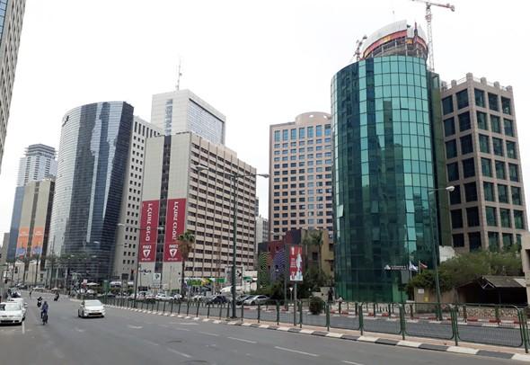 Edificios de oficinas en Israel.