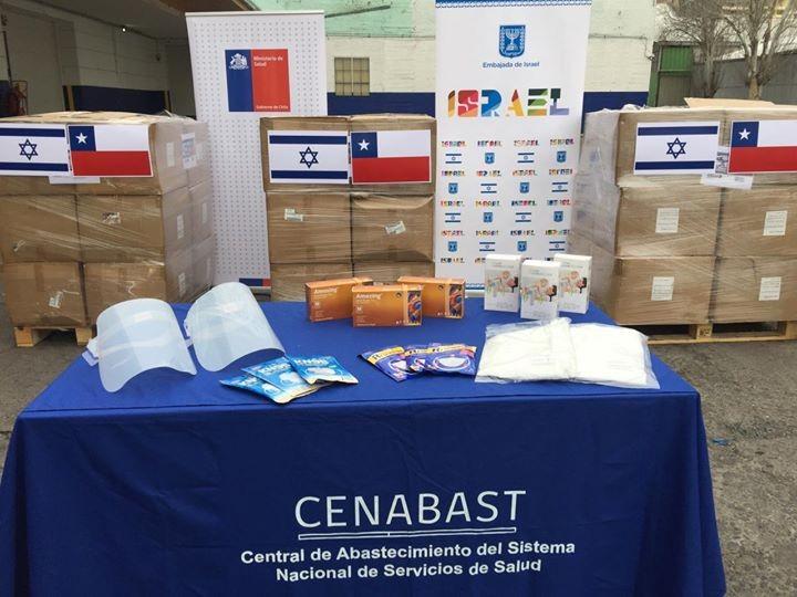 La Embajada de Israel en Chile donó 1,5 toneladas de insumos médicos