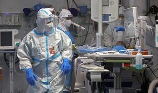 Área de atención por coronavirus en el Centro Médico Sheba.