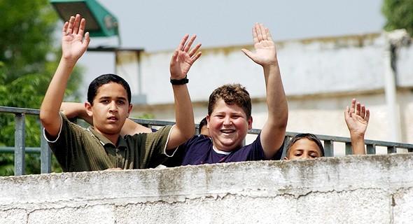 Estudiantes en la ciudad árabe de Garbihay.