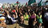 Manifestación de partidarios de los Hermanos Musulmanes en Jordania.