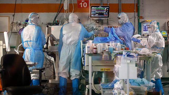 Sector de coronavirus en el Centro Médico Sheba, cerca de Tel Aviv.