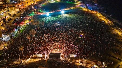 Masiva protesta en Tel Aviv.