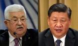 Mahmoud Abbas y Xi Jinping.