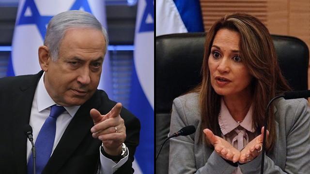 El primer ministro, Benjamín Netanyahu, y la parlamentaria del Likud Yifat Shasha-Biton