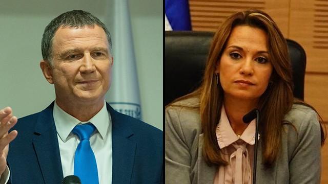 La presidente del Comité del Coronavirus, la parlamentaria Y ifat Shasha-Biton, y el ministro de Salud, Yuli Edelstein, no alcanzan acuerdos.