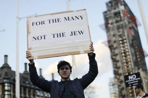 Marcha en el Reino Unido contra el antisemitismo dentro del Partido Laborista.