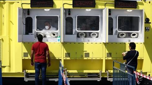 Centro de test de coronavirus en Jerusalem Este.