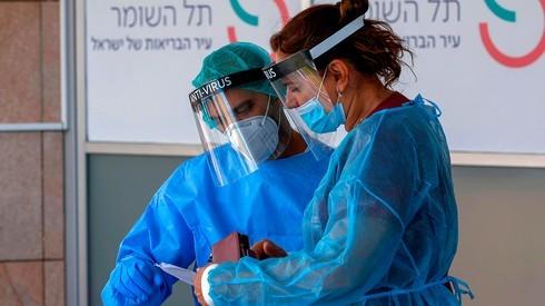 Sala de atención por coronavirus en el Centro Médico Sheba de Tel Aviv.