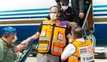 El día que Eli Beer llegó a Israel, tras haber permanecido hospitalizado en Miami.
