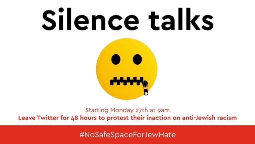 """""""El silencio habla"""". Campaña contra el antisemitismo en Twitter."""