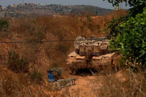 Fuerzas de las FDI en la frontera con Líbano.