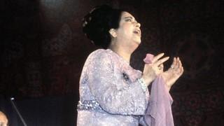 La diva egipcia Umm Kulthum.