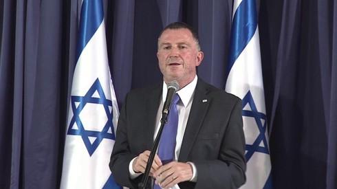 Yuli Edelstein, ministro de Salud, durante la presentación del plan contra el coronavius