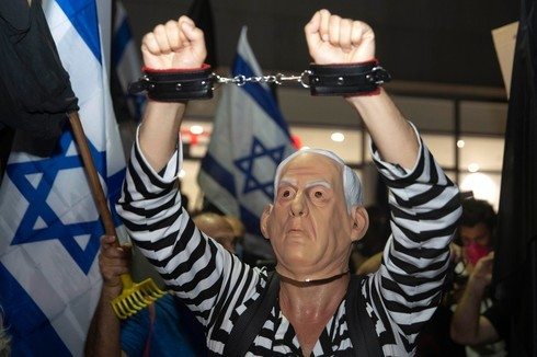 Manifestación contra Netanyahu en Tel Aviv.